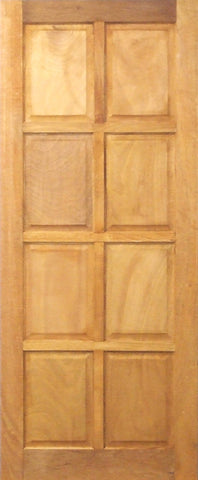 Wooden Door 8 Panel Mixed Timber