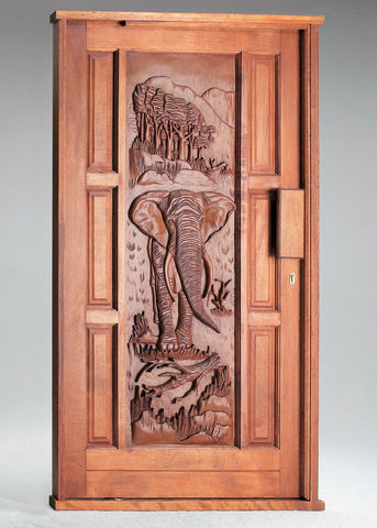 Wooden Door Pivot Set Elephant