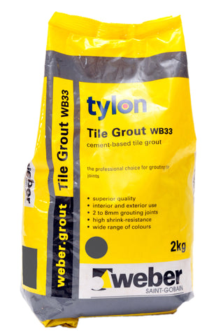 Tylon Wall & Floor Grout 2kg
