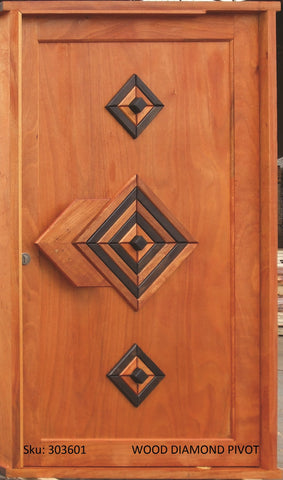 Wooden Door Pivot Set Diamond