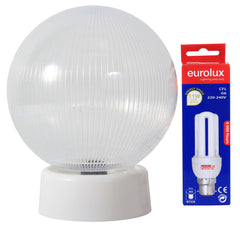 Budget light Includes CFL Globe Clear