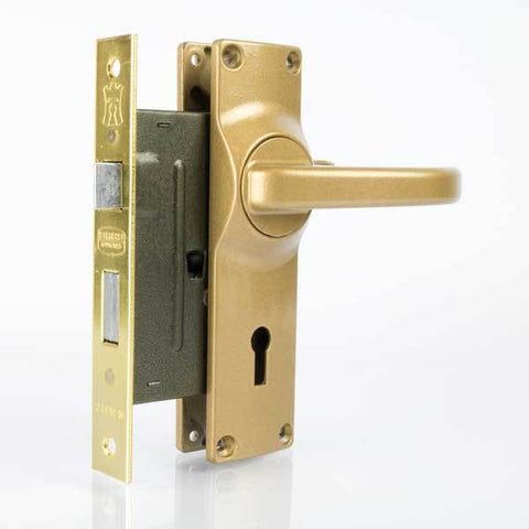 Lock Handle Aluminium Gold
