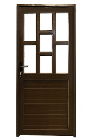 Aluminium Door Bronze 890 x 2090 Staggered/Solid