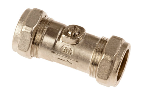Compression CxC Isolate Valve Straight
