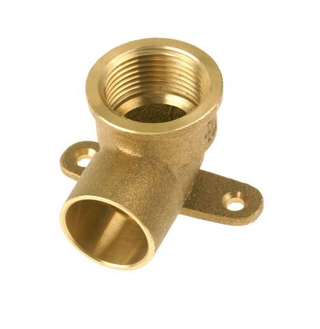 Copper Solder CxFI Elbow 90° Wall plate 15mm