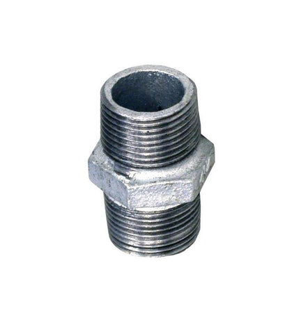 Galvanised Hex Nipple