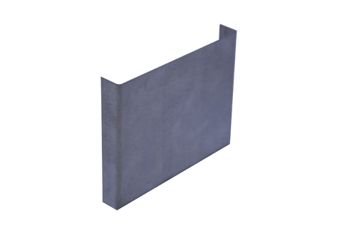 Gutter Galvanised Square Stop End
