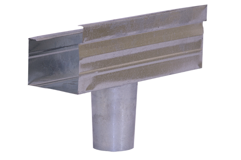 Gutter Galvanised Square & Round Outlet