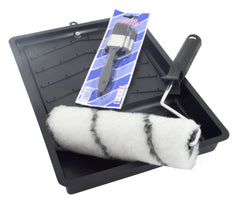 Academy Paint Roller Tray Set & 3Pce Paint Brush Set