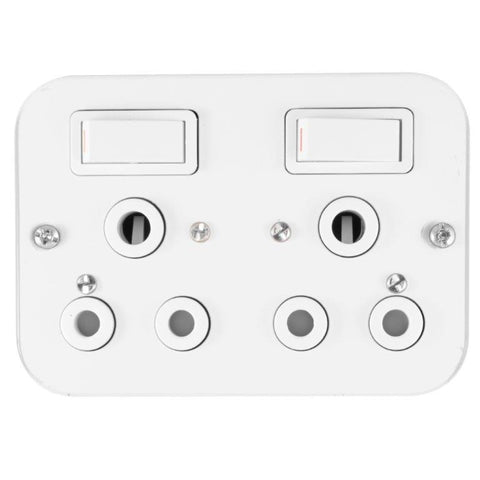 Switch Plug Industrial 15A White Duo Crabtree