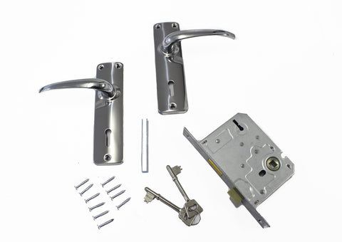 Lockset Contractor Silver Series 3 Lever