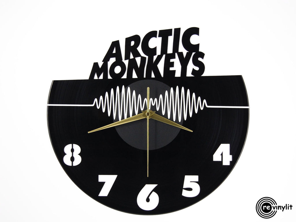 Arctic Moneys vinyl record clock