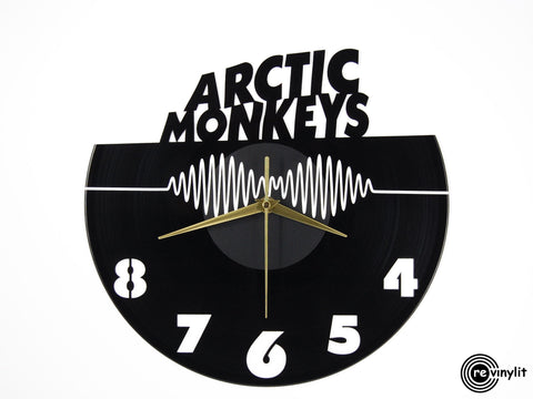 Arctic Monkeys clock, vinyl record clock ||| by Revinylit