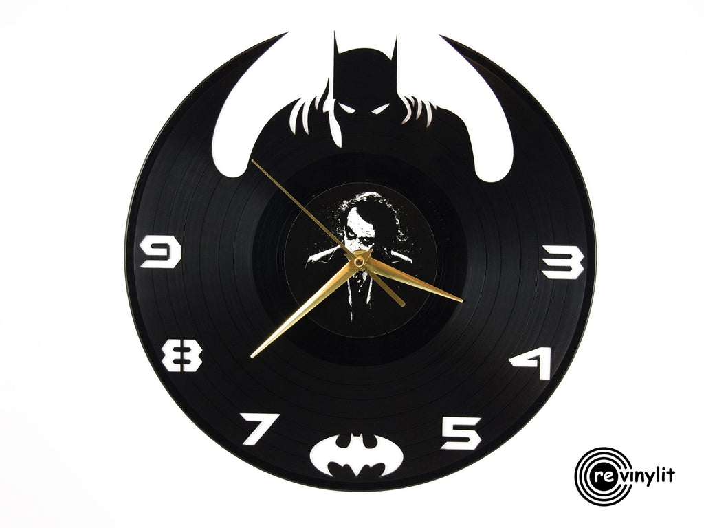 Batman vinyl record clock