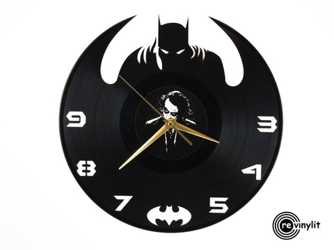 Batman vinyl clock, vinyl record clock ||| by Revinylit