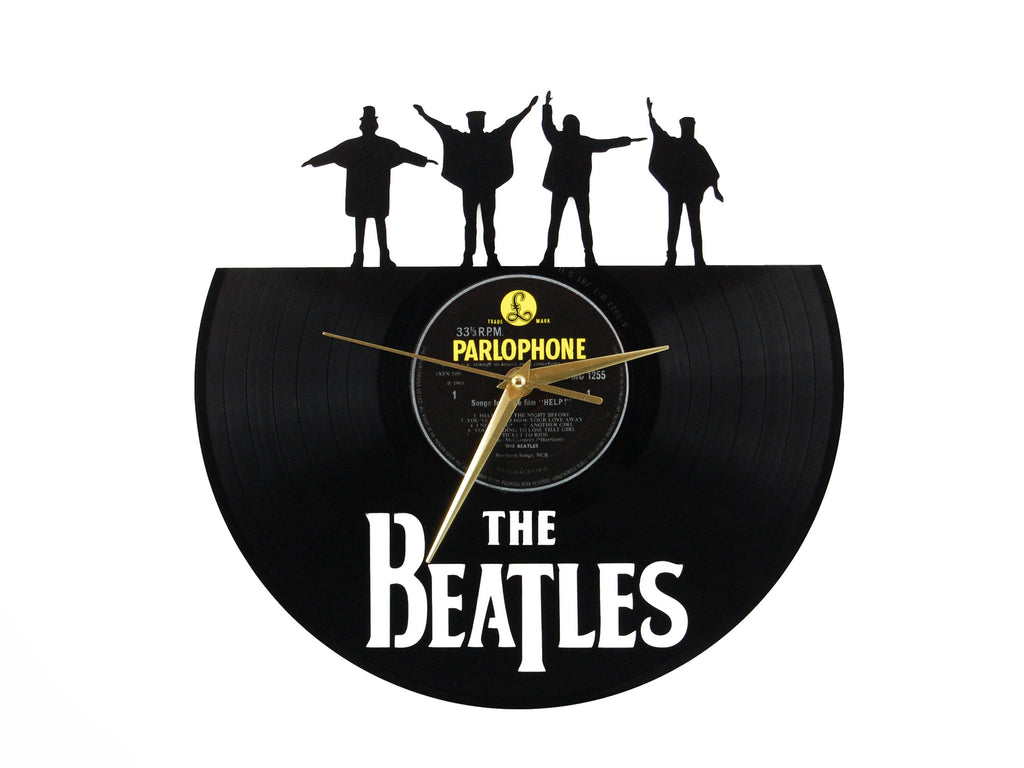 The Beatles clock, vinyl record clock, ||| by Revinylit