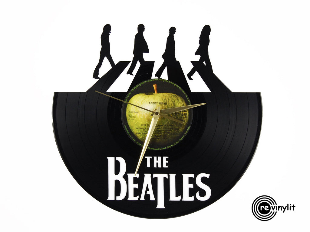 The Beatles Abbey Road vinyl record clock