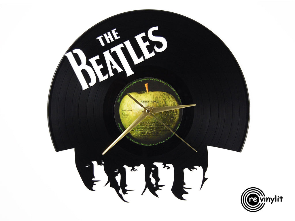 Beatles vinyl record clock