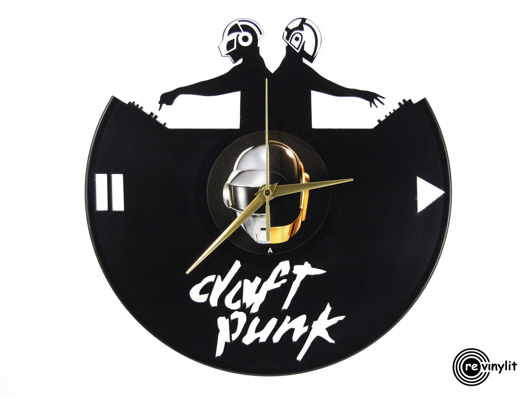 Daft Punk vinyl record clock