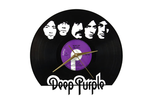 Deep Purple vinyl clock, vinyl record clock ||| by Revinylit
