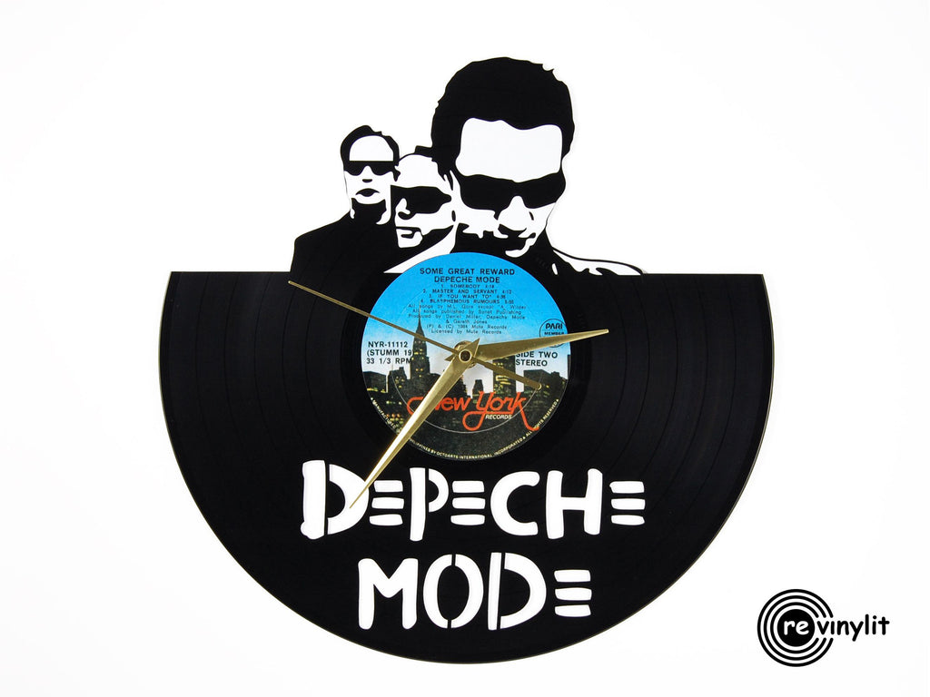 Depeche Mode vinyl record clock