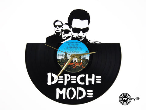 Depeche mode clock, vinyl record clock ||| by Revinylit