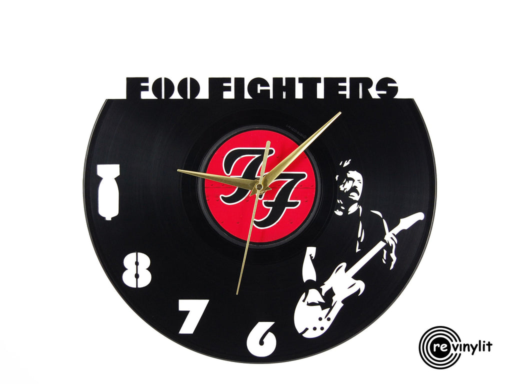 Foo Fighters vinyl record clock