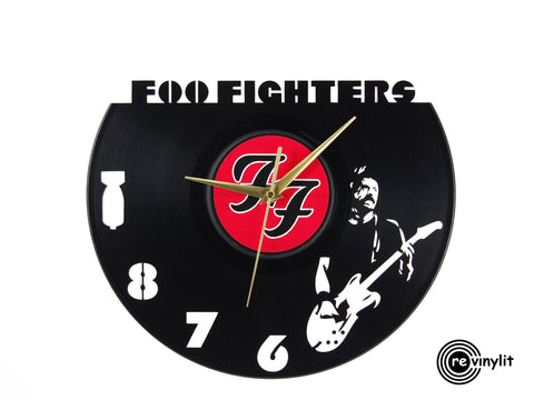Foo Fighters vinyl clock,  vinyl record clock ||| by Revinylit