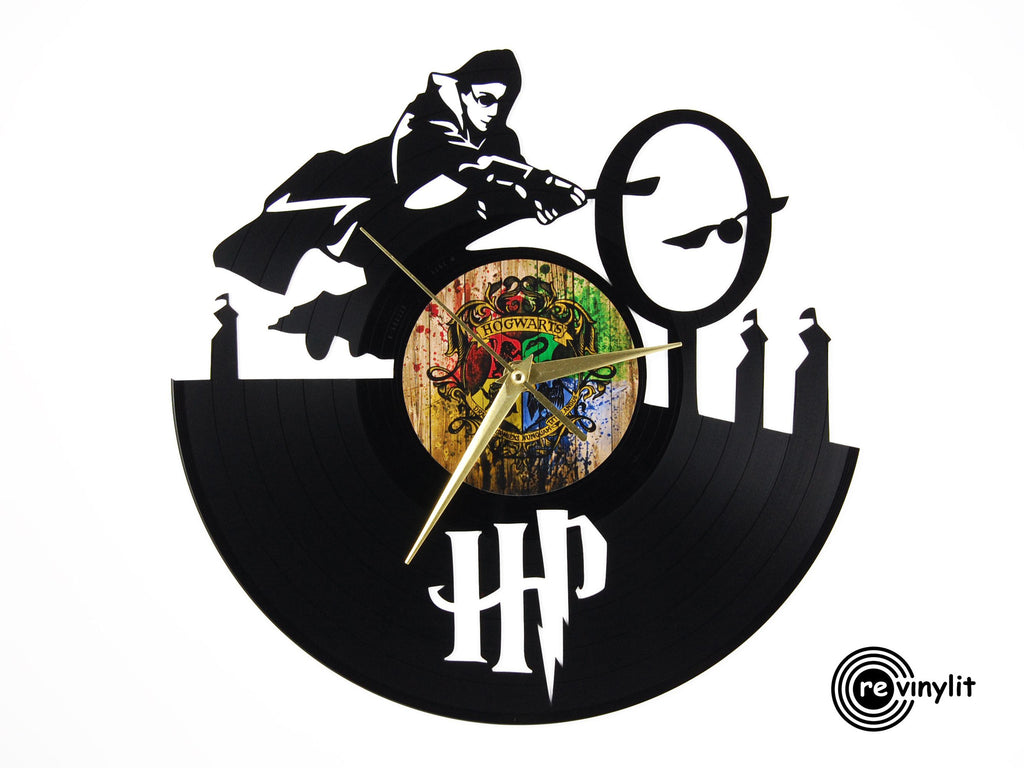 Harry Potter vinyl record clock