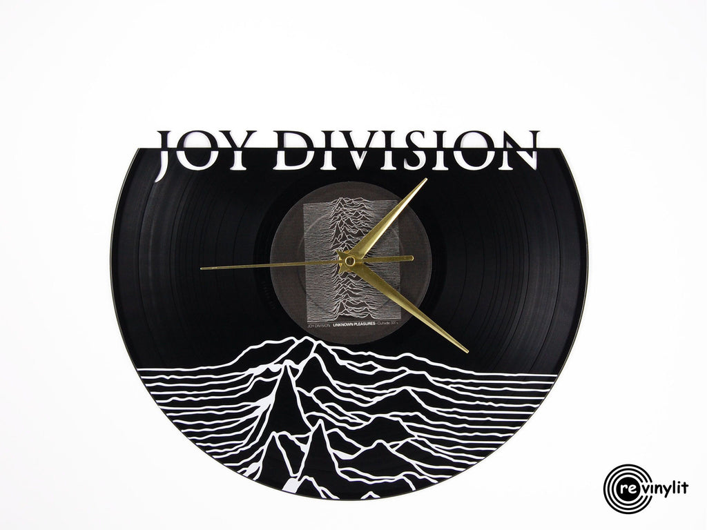 Joy Division vinyl record clock