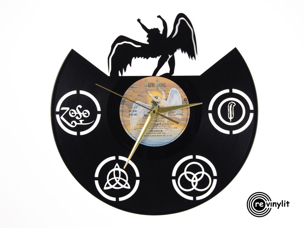 Led Zeppelin Swan Song vinyl record clock