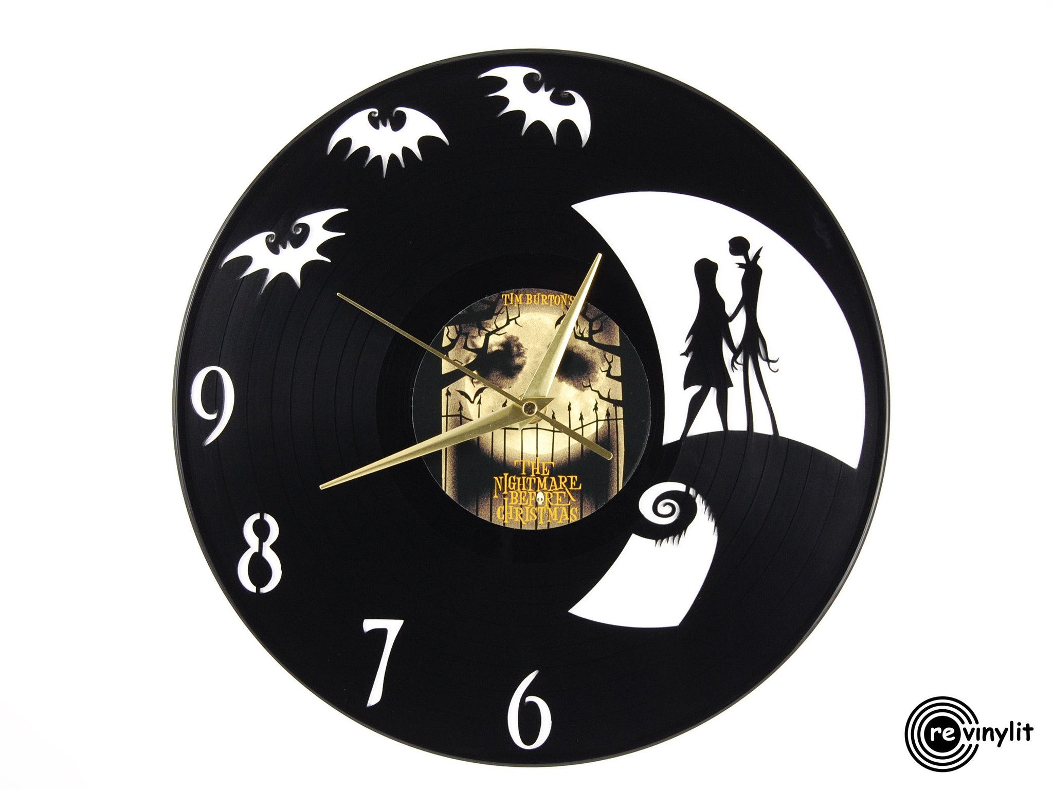 nightmare before christmas vinyl clock vinyl record clock by revinylit