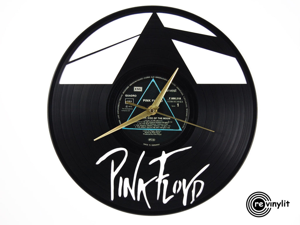 Pink Floyd Dark Side of the Moon vinyl record clock