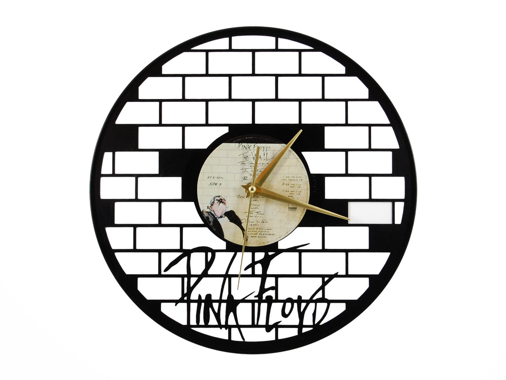 Pink Floyd The Wall clock, vinyl record clock ||| by Revinylit