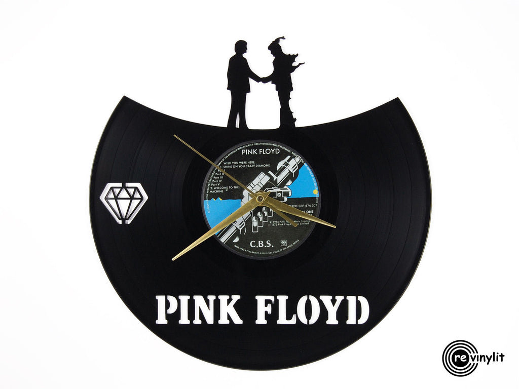 Pink Floyd Wish you were here vinyl record clock