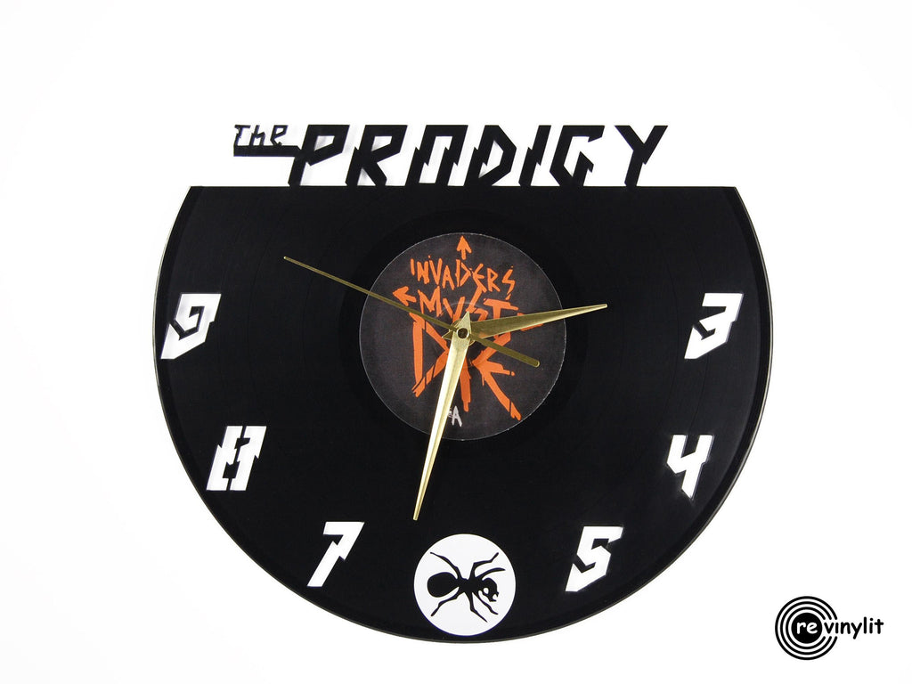 The Prodigy vinyl record clock