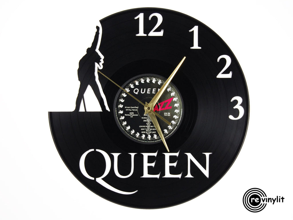 Queen Freddie Mercury vinyl record clock