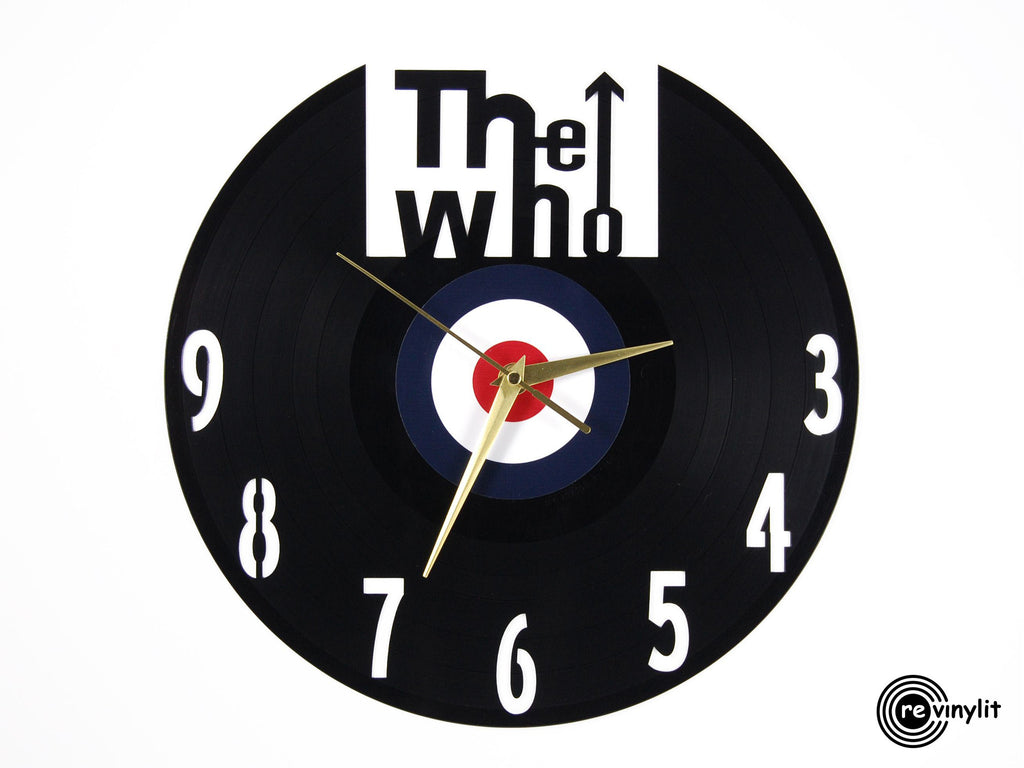 The Who vinyl record clock