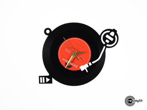 Turntable vinyl clock,  vinyl record clock ||| by Revinylit