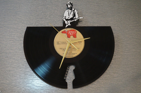 Eric Clapton clock, vinyl record clock ||| by Revinylit
