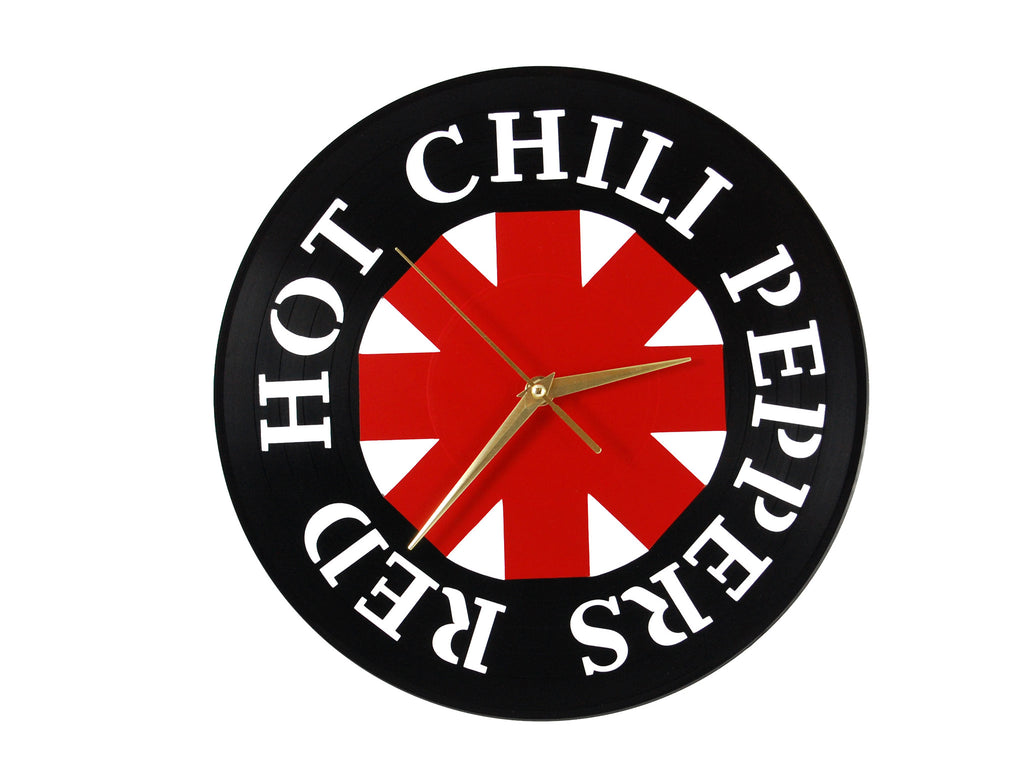 Red Hot Chili Peppers vinyl clock, vinyl record clock ||| by Revinylit
