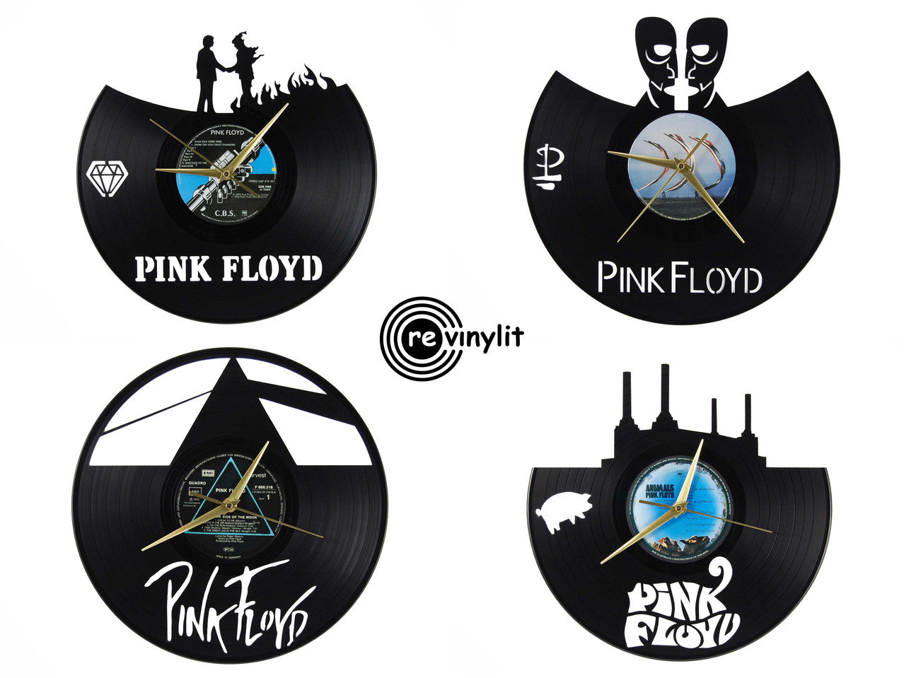 Pink Floyd vinyl clocks