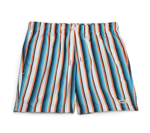 Green Stripe Swim Trunk