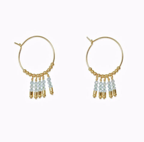 Cleo Apatite Earrings 14Kt Gold