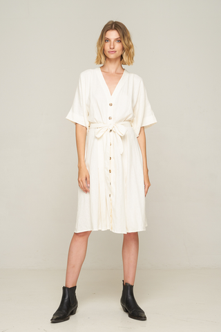 Maverick Midi Dress White