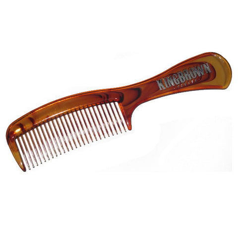 King Brown Handle Comb