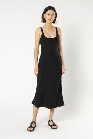 Esme Cupro Slip Dress - Black