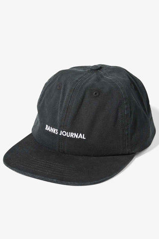 Banks_Journal_Label_Hat_Cap_Dirty_Black