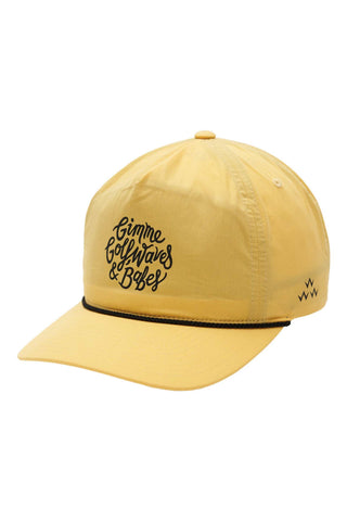 Birds_Of_Condor_Golf_Waves_&_Babes_Snapback_Mustard_Mens_Womens_Unisex_Summer_Hats_Online