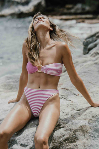 Cleonie_Sustainable_Swimwear_Ripple_Brief_Multi_Wear_Bikini_Bottom_Magenta_Stripe